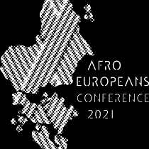 Afroeuropeans logo 2021 white on black